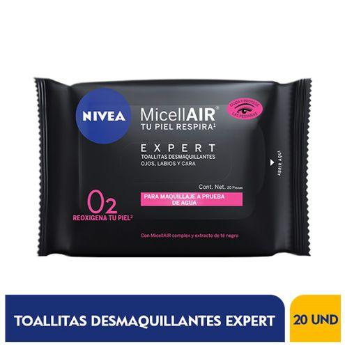 Comprar Toallitas Desmaquillantes Nivea Micellair Expert X 20und