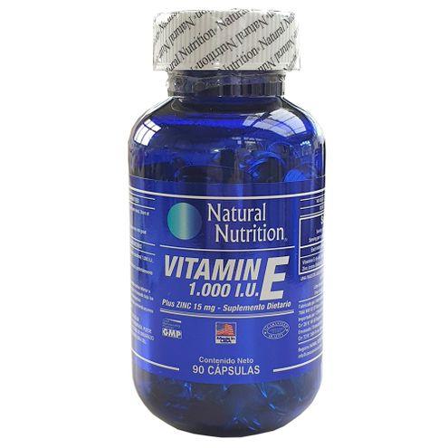 Comprar Vitamina E 1000 I.U + Zinc Natural Nutrition X 90 Capsulas