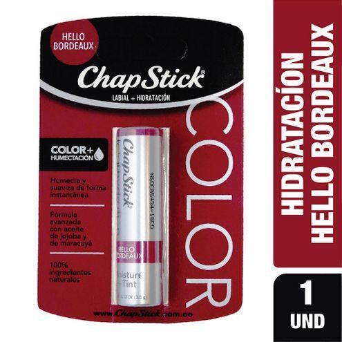 Comprar Protector Labial Hidratante Chapstick Hello Bordeaux X 3.5g