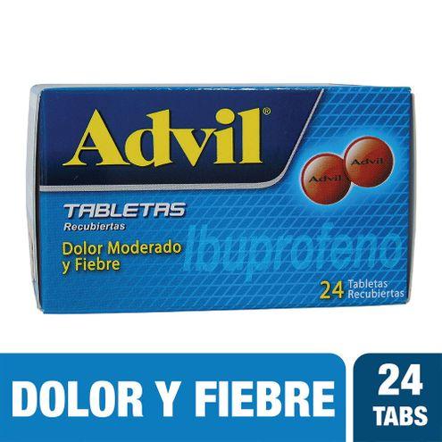 Comprar Advil Caja X 24 Tabletas Recubiertas