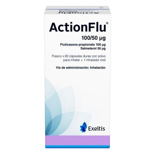 Comprar Actionflu 100/50 Ug X 60 Capsulas + Inhalador