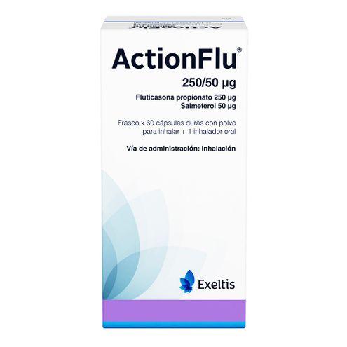 Comprar Actionflu 250/50 Ug X 60 Capsulas + Inhalador