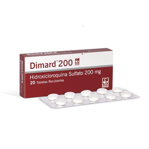 Comprar Dimard 200mg Caja X 20 Tabletas