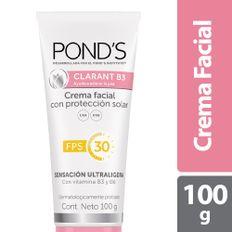 7506306216778_1_CREMA-FACIAL-PONDS-CLARANT-B3-PROTECCION-SOLAR-FPS-30-X-100G