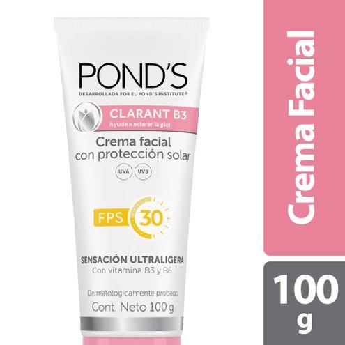 Comprar Crema Facial Ponds Clarant B3 Proteccion Solar Fps 30 X 100g