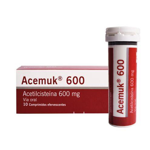Comprar Acemuk 600mg X 10 Comprimidos Efervecentes