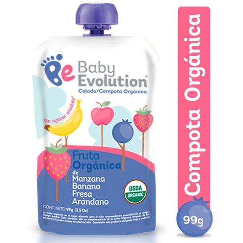 Comprar Compota Baby Evolution Manzana Banano Fresa Arandano X 99g