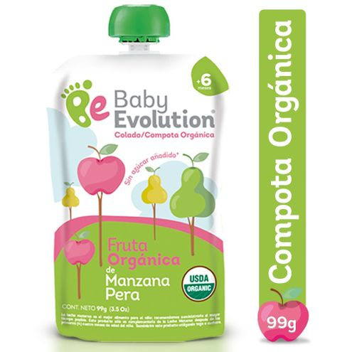Comprar Compota Baby Evolution Manzana Pera 99gr