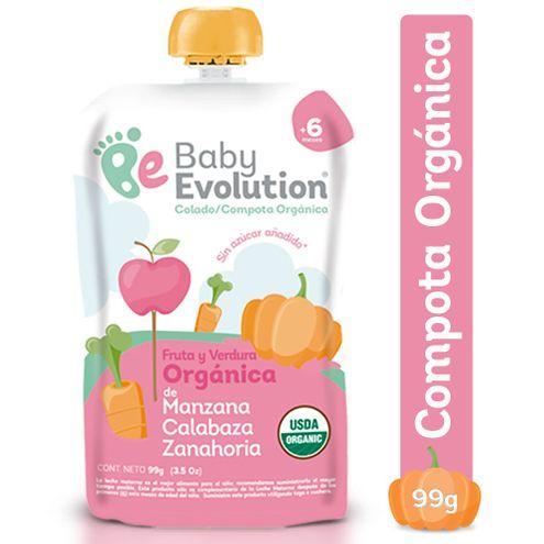 Comprar Compota Baby Evolution Manzana Calabaza Zanahoria X 99gr