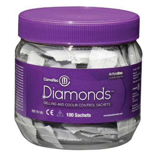 Comprar Diamonds Sachets Gelificantes Y Antiolor Para Bolsa De Colostomia Frasco 100und Convatec