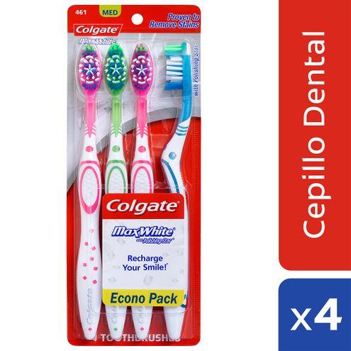 Comprar Cepillo Dental Colgate Max White Pack X 4und