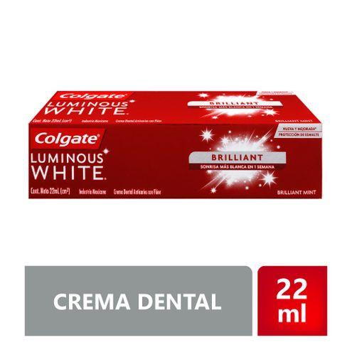 Comprar Crema Dental Colgate Luminous White Brilliant X 22ml
