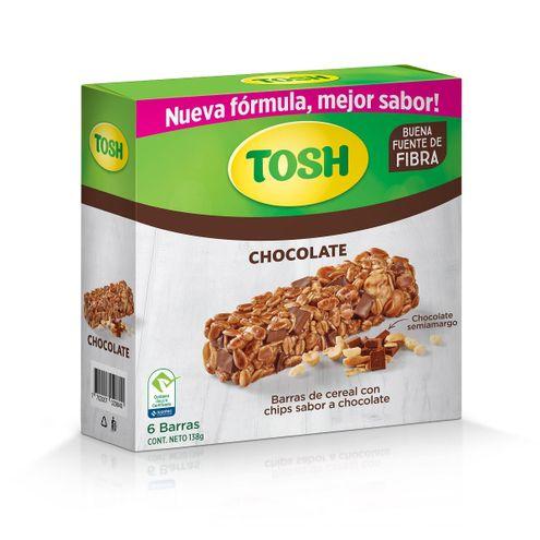 Comprar Barra Cereal Tosh Chocolate Semiamargo 6und X 138g - Barra Cereal Tosh Chocolate Semiamargo 6 Und X 138g