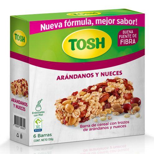 Comprar Barra Cereal Tosh Arandanos Y Nueces X 6und X 138g