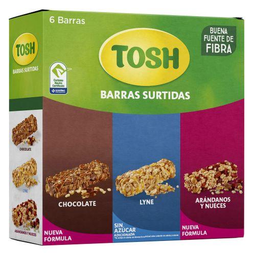 Comprar Barra Cereal Tosh Surtida X 6und X 138g - Barra Cereal Surtida Tosh X 6und X 138g