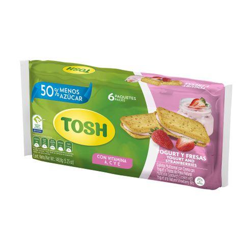 Comprar Galletas Tosh Light Yogurt Fresa X 6und