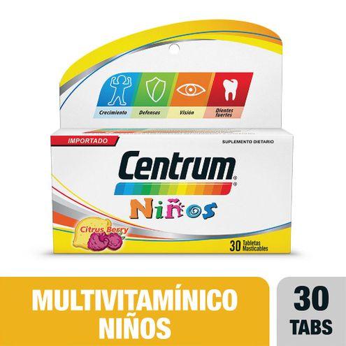 Comprar Centrum Niños X 30 Tabletas