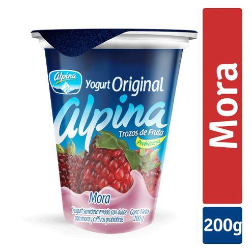 Comprar Yogurt Alpina Original Sabor Mora X 200ml