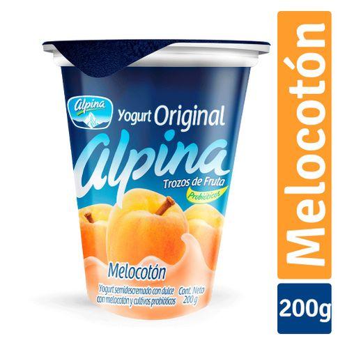 Comprar Yogurt Original Alpina Melocoton X 200ml
