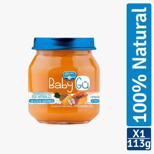 Comprar Compota Alpina Baby Gu Natural Frutas Mixtas X 113g