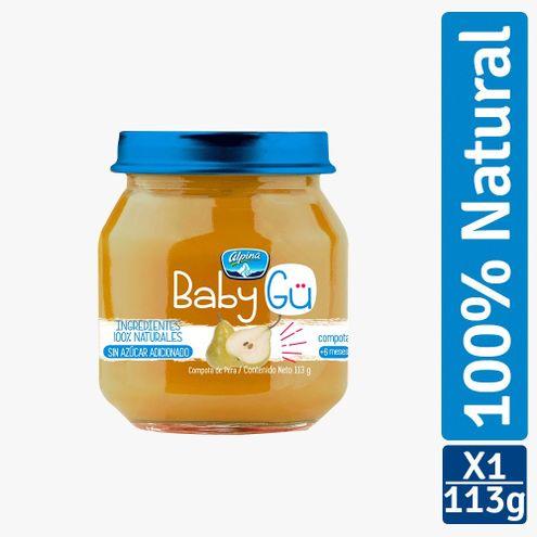 Comprar Compota Alpina Baby Gu Natural Pera X 113g