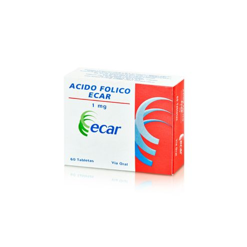 Comprar Acido Folico 1mg X 60 Tabletas