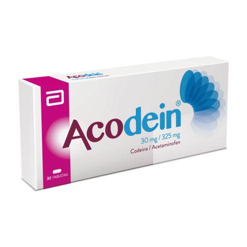 Comprar Acodein 30mg X 30 Tabletas Recubiertas