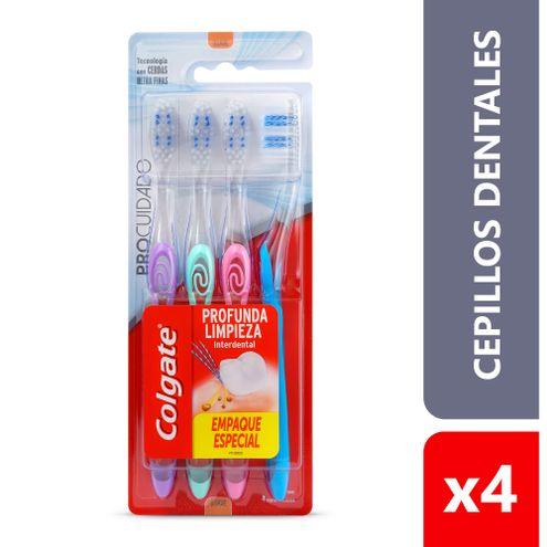 Comprar Cepillo Dental Colgate Pro Cuidado X 4und