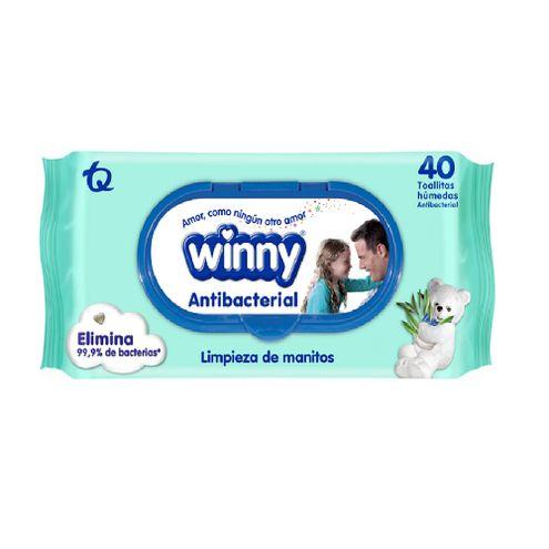 Comprar Toallitas Humedas Winny Antibacterial Para Manos X 40und