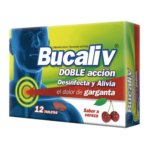 Comprar Bucaliv Cereza Caja X 12 Tabletas Masticables