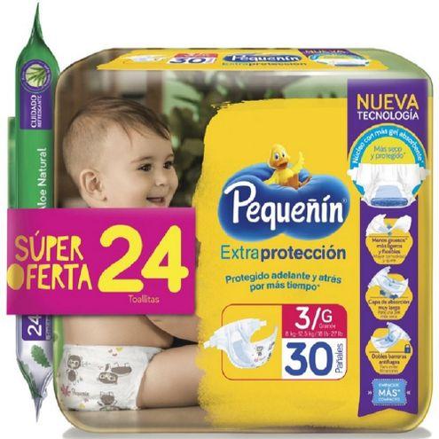 Comprar Pañales Pequeñin Extra Proteccion Etapa 3 X 30und + 24 Toallitas