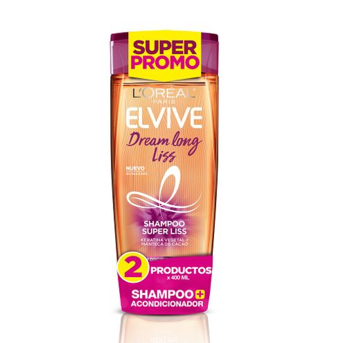 Comprar Shampoo + Acondicionador Elvive Dream Long Liss X 400ml