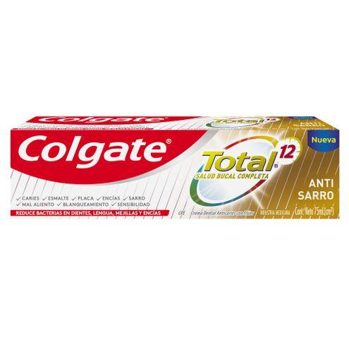 Comprar Crema Dental Colgate Total 12 Antisarro X 75ml