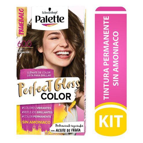 Comprar Tinte Palette Perfect Gloss Sin Amoniaco 600 Rubio Sensacion Tub