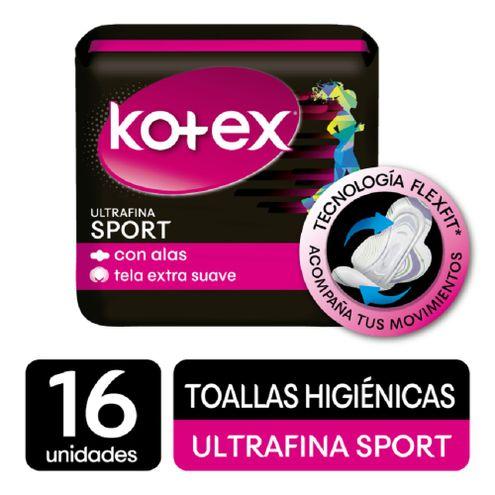 Comprar Toallas Higiénicas Kotex Sports Actividad Intensa X 16und