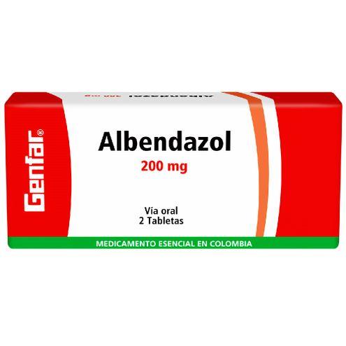 Comprar Genfar Albendazol 200mg Caja X 2 Tabletas