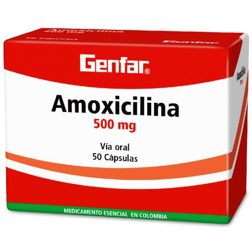 Comprar Genfar Amoxicilina 500mg Caja X 50 Capsulas