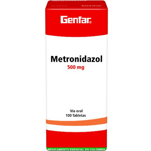 Comprar Genfar Metronidazol 500mg Caja X 100 Tabletas