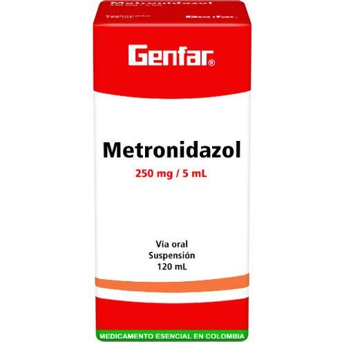 Comprar Genfar Metronidazol 250mg/5ml Suspension Frasco X 120ml
