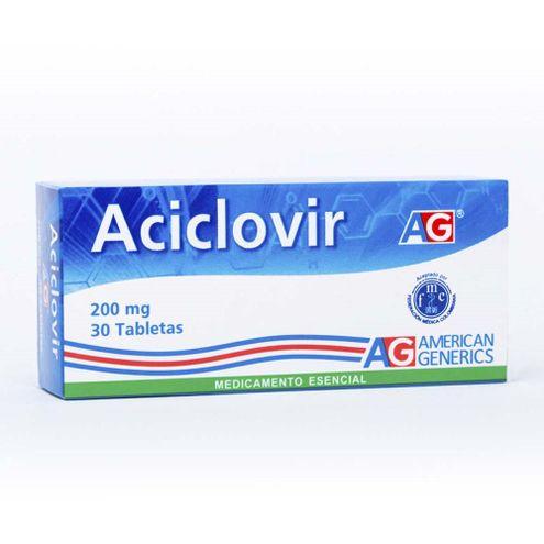Comprar Aciclovir 200mg Ag X 30 Tabletas
