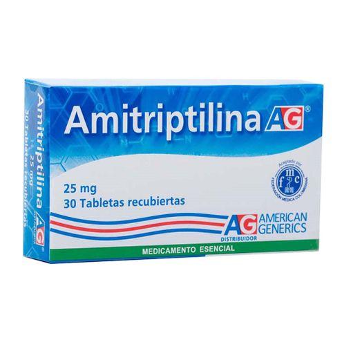 Comprar Amitriptilina 25mg Ag X 30 Tabletas