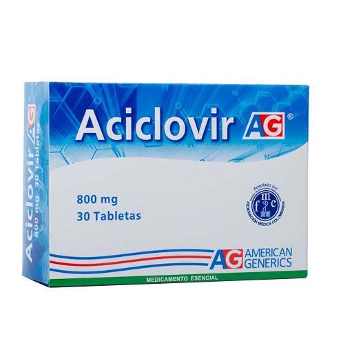 Comprar Aciclovir 800mg Ag X 30 Tabletas