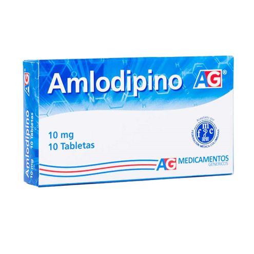 Comprar Amlodipino 10mg Ag X 10 Tabletas