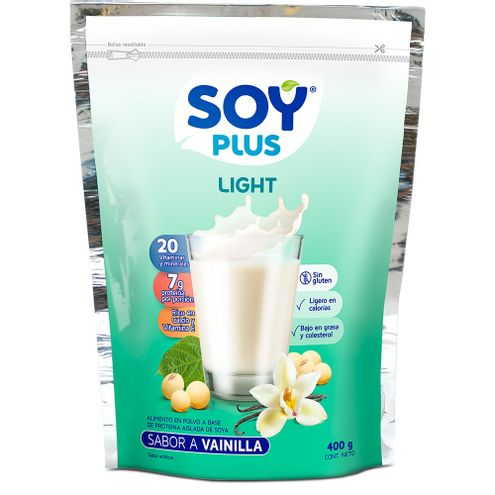 Comprar Leche Soya Soy Plus Vainilla Light X 400g