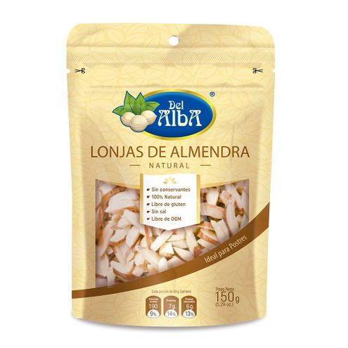 Comprar Lonjas De Almendra Natural Del Alba X 150g