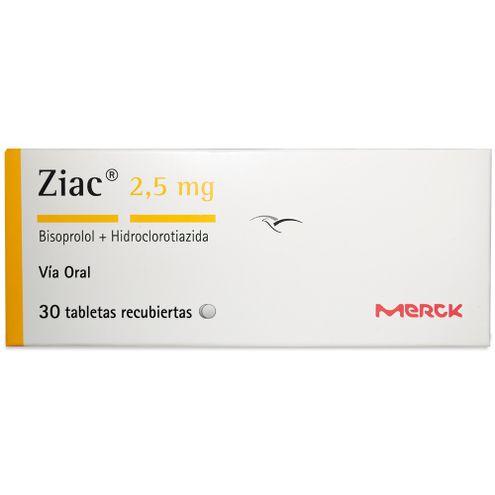 Comprar Ziac 2,5mg X 30 Tabletas