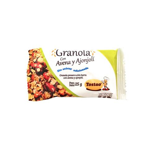 Comprar Barra De Granola Sin Azucar 25grm