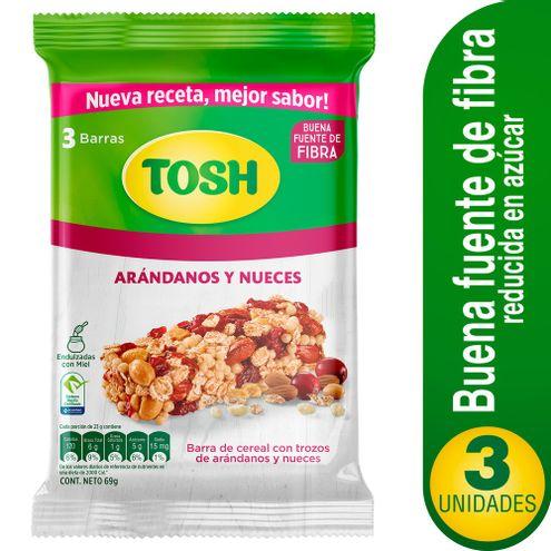 Comprar Barra Tosh Cereal Arandanos Y Nueces X 3und X 69g