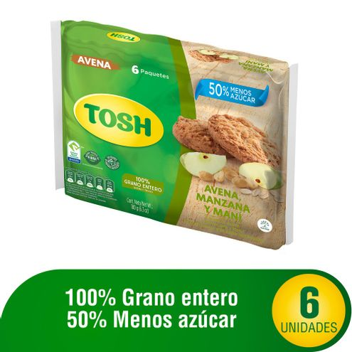 Comprar Galleta Tosh Avena Manzana Y Mani X 6und X 180g