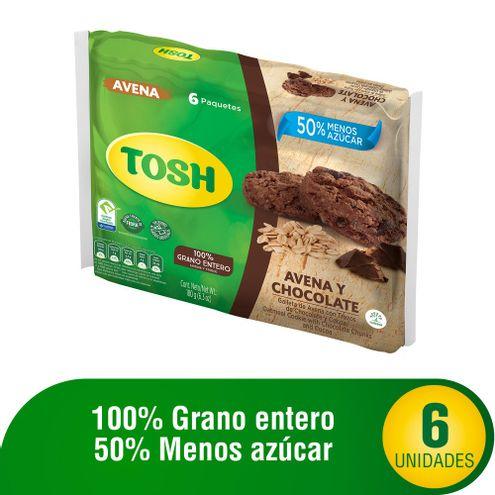 Comprar Galleta Tosh Avena Y Chocolate X 6und X 180g